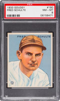 Baseball Cards:Singles (1930-1939), 1933 Goudey Fred Schulte #190 PSA NM-MT 8 - None Higher....