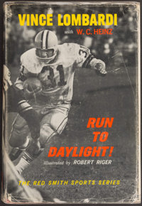 "1963 Vince Lombardi Signed ""Run to Daylight!"" Hardcover Book - Personalized to Tight End Ron Kramer"