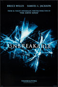 "Movie Posters:Drama, Unbreakable (Buena Vista, 2000). One Sheets (2) (27"" X 40"") DS Advance Dates & Thanksgiving Styles. Drama.. ... (Total: 2 Items)"