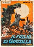 "Movie Posters:Science Fiction, Son of Godzilla (Titanus, 1969). Italian 4 - Foglio (55"" X 77"").Science Fiction.. ..."