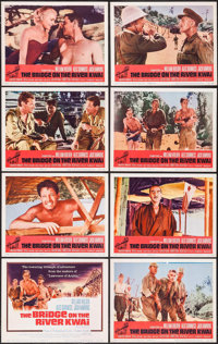 """The Bridge on the River Kwai (Columbia, R-1963). Lobby Card Set of 8 (11"""" X 14""""). War. ... (Total: 8 Items)"""