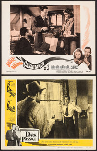 """Casablanca & Other Lot (Dominant Pictures, R-1956). Lobby Cards (2) (11"""" X 14""""). Academy Award Winners..."""