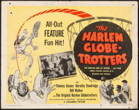 "The Harlem Globetrotters (Columbia, 1951). Half Sheet (22"" X 28"") Style A. Sports"