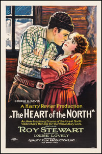 """The Heart of the North (C.B.C. Film Sales, 1921). One Sheet (27"""" X 41"""") Style B. Western"""
