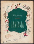 "Movie Posters:Animation, Fantasia (RKO, 1940). Program (28 Pages, 9.5"" X 12.75""). Animation.. ..."