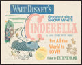 "Movie Posters:Animation, Cinderella (RKO, 1950). Title Lobby Card (11"" X 14""). Animation....."