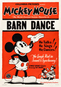 "Movie Posters:Animation, Mickey Mouse in The Barn Dance (Columbia, 1929). Stock One Sheet(29"" X 42"").. ..."