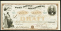 Miscellaneous:Other, United States Post Office Department Draft $55.73 May 31, 1869.....
