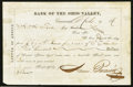 Obsoletes By State:Ohio, Cincinnati, OH- Bank of the Ohio Valley Letter of Advice $500 Mar.9, 1870. ...