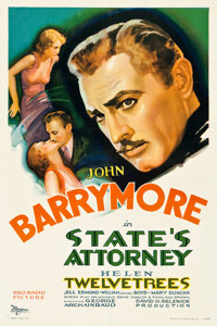 """State's Attorney (RKO, 1932). One Sheet (27"""" X 41"""")"""