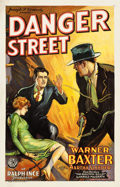 """Movie Posters:Mystery, Danger Street (FBO, 1928). Trimmed One Sheet (25.5"""" X 39"""").. ..."""