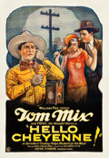 "Movie Posters:Western, Hello Cheyenne! (Fox, 1928). One Sheet (28"" X 41"").. ..."