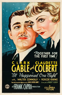 """It Happened One Night (Columbia, R-1937). One Sheet (27"""" X 41"""") Style B"""