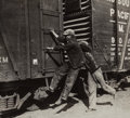 Photographs, Walker Evans (American, 1903-1975). Young Men Hopping a Train, 1936. Gelatin silver. 5-1/2 x 6-1/4 inches (14 x 16 cm). ...