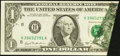 Error Notes:Foldovers, Fr. 1911-H $1 1981 Federal Reserve Note. Choice CrispUncirculated.. ...