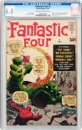 Silver Age (1956-1969):Superhero, Fantastic Four #1 (Marvel, 1961) CGC FN+ 6.5 Cream to off-whitepages....