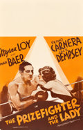 "Movie Posters:Romance, The Prizefighter and the Lady (MGM, 1933). Window Card (14"" X22"").. ..."