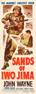 "Movie Posters:War, Sands of Iwo Jima (Republic, 1950). Insert (14"" X 36""). War.. ..."