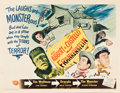 "Movie Posters:Horror, Abbott and Costello Meet Frankenstein (Universal International,1948). Half Sheet (22"" X 28"") Style B.. ..."