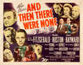 """Movie Posters:Mystery, And Then There Were None (20th Century Fox, 1945). Half Sheet (22"""" X 28"""").. ..."""