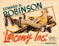 "Movie Posters:Crime, Larceny, Inc. (Warner Brothers, 1942). Half Sheet (22"" X 28"") StyleB.. ..."