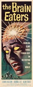 "Movie Posters:Horror, The Brain Eaters (American International, 1958). Insert (14"" X36"").. ..."