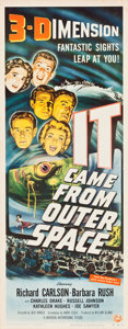 "Movie Posters:Science Fiction, It Came from Outer Space (Universal International, 1953). Insert(14"" X 36"") 3-D Style.. ..."