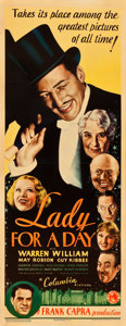 """Movie Posters:Comedy, Lady for a Day (Columbia, 1933). Insert (14"""" X 36"""").. ..."""