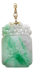 Estate Jewelry:Pendants and Lockets, Jadeite Jade, Gold Pendant. ...