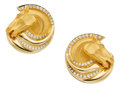 Estate Jewelry:Earrings, Diamond, Gold Earrings, Carrera y Carrera. ... (Total: 2 Items)