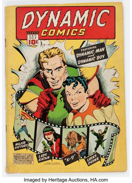 Dynamic Comics #2 (Chesler, 1941) Condition: VG....