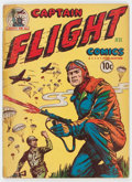 Golden Age (1938-1955):War, Captain Flight Comics #3 (Four Star, 1944) Condition: ApparentGD....