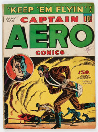 Captain Aero Comics #5 (Holyoke Publications, 1942) Condition: GD/VG