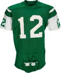Football Collectibles:Uniforms, 1970-73 Joe Namath Game Worn New York Jets Jersey, MEARS A10....