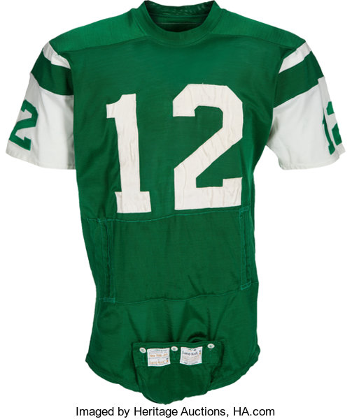 on sale bccb0 f0d9a 1970-73 Joe Namath Game Worn New York Jets Jersey, MEARS A10 ...
