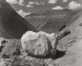 Photographs, Eliot Furness Porter (American, 1901-1990). White Boulder, Black Place, New Mexico, 1945. Gelatin silver, printed later...