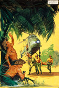 Original Comic Art:Covers, Jungle War Stories #9 Cover Painting Original Art (Dell,1964)....