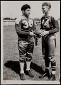 Football Collectibles:Photos, 1938 Don Hutson and Arnie Herber Original News Photograph - GreenBay Packers Hall of Famers....