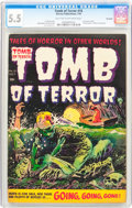 Golden Age (1938-1955):Horror, Tomb of Terror #16 Big Apple pedigree (Harvey, 1954) CGC FN- 5.5Light tan to off-white pages....