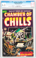 Golden Age (1938-1955):Horror, Chamber of Chills #21 (Harvey, 1954) CGC FN+ 6.5 Slightly brittlepages....