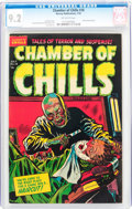 Golden Age (1938-1955):Horror, Chamber of Chills #18 (Harvey, 1953) CGC NM- 9.2 Off-whitepages....