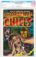 Golden Age (1938-1955):Horror, Chamber of Chills #15 File Copy (Harvey, 1953) CGC VF+ 8.5 Cream tooff-white pages....