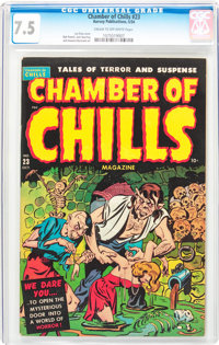 Chamber of Chills #23 (Harvey, 1954) CGC VF- 7.5 Cream to off-white pages