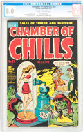 Golden Age (1938-1955):Horror, Chamber of Chills #22 (#2) File Copy (Harvey, 1951) CGC VF 8.0Cream to off-white pages....