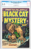 Golden Age (1938-1955):Horror, Black Cat Mystery #40 (Harvey, 1952) CGC VF 8.0 Cream to off-whitepages....