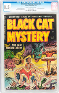 Golden Age (1938-1955):Horror, Black Cat Mystery #35 (Harvey, 1952) CGC VF+ 8.5 Cream to off-whitepages....