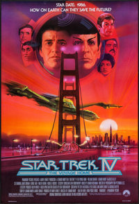 """Star Trek IV: The Voyage Home (Paramount, 1987). One Sheets (2) (27"""" X 40"""") SS Regular & Advance. Scie..."""