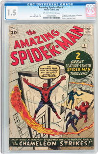 The Amazing Spider-Man #1 (Marvel, 1963) CGC FR/GD 1.5 Off-white to white pages