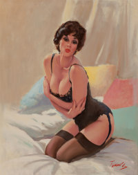 Bobby Toombs (American, 20th Century) Give Yourself a Hug Oil on canvas 29.75 x 24 in. Signed