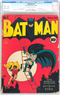 Golden Age (1938-1955):Superhero, Batman #4 (DC, 1940) CGC GD+ 2.5 Off-white to white pages....
